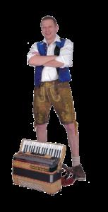 Klaus spielt das Akkordeon
