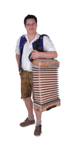 Michl spielt unter anderem die Steirische Harmonika